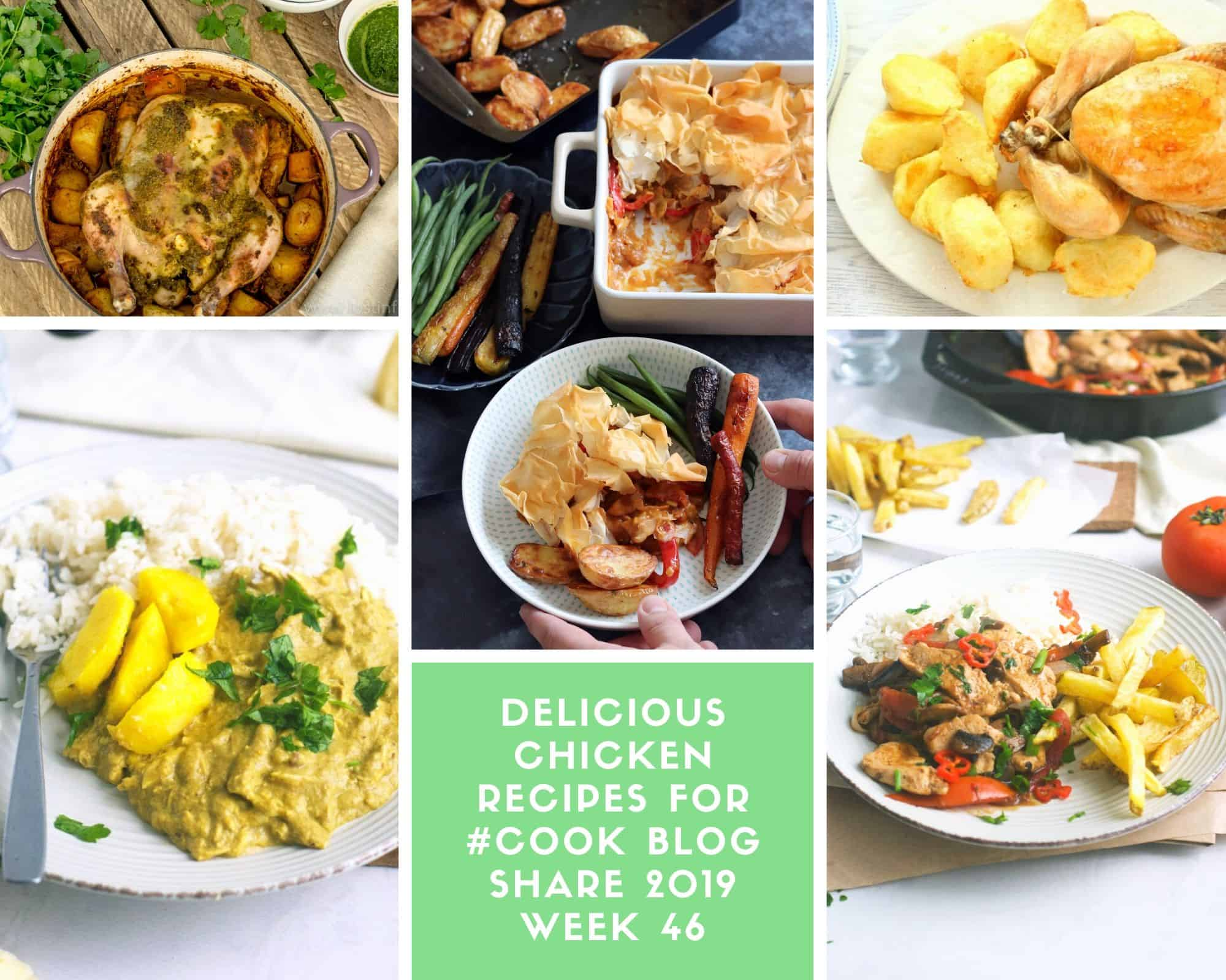 Collage of Chicken Recipes #CookBlogShare 2019 Week 46 Chicken Recipes